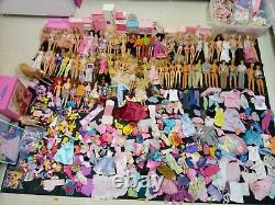 Huge Barbies, Friends, Clothes, Accessories and Furniture Lot