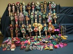 Huge Lot Monster High First Wave & Ever After First Chapter Dolls + accessories