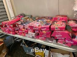 Huge Lot Of 60 Vintage Mattel Barbie Dolls All New In Boxes Mostly 90s