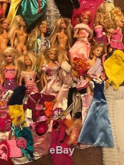 Huge Lot Of Barbies Clothes Accessories Shoes