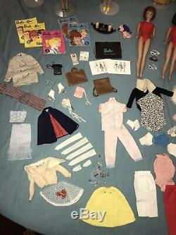 Huge Lot Vintage 60s 70s Barbie dolls, clothes, accessories, Carrying Case RARE