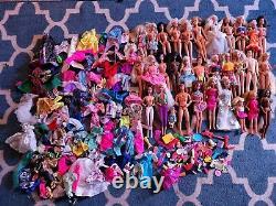 Huge Lot of 30+ Barbie Ken dolls from 80's 90's Vintage Mattel clothes shoes
