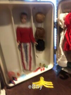Huge Lot of Vintage 1960's BARBIE Dolls Clothing Shoes Accessories In Cases