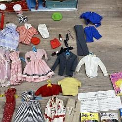 Huge Vintage Barbie Ken Lot 1960s #6 With Closet Clothes Pamphlets Accessories