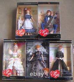 I Love Lucy Barbie Dolls Collection, Lot of15 NRFB Free Ship U. S