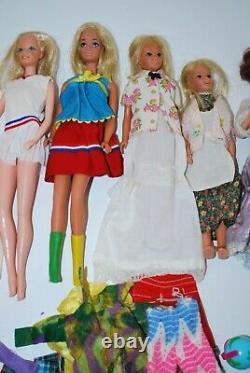 LOT 60's Vintage BARBIE Dolls Clothes Shoes Accessories