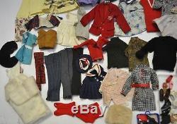 LOT of Vintage 1960s BARBIE, Tammy, Midge, Friends CLOTHES & Cases & Accessories