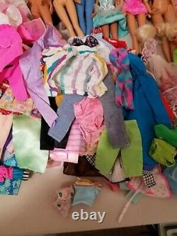 Large Lot 80s-90s Mattel Barbie & Ken Dolls, Clothes, Accessories, Animals