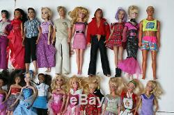 Large Lot of 89 Dolls Mostly Mattel Barbie and Disney Princesses