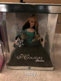 Lot 1995-2009 of 15 Happy Holiday Special Edition BARBIES NRFB