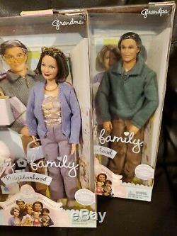 Lot Of 2 Happy Family Neighborhood Grandma And Grandpa 2003 Barbie Dolls
