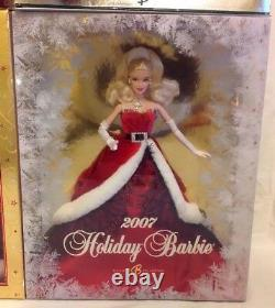 Lot Of 6 Christmas Holiday Barbie Special Edition, 01 Angel 04 05 06 07 & 2015