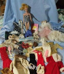 Lot VTG Barbie #4 Doll Stand Clothes Original HandMade Fashion book'95 Ornament