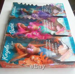 Lot X 3 Barbie Mermaid Fantasy / Sirena Fantasia Lote Brand New Mattel (2002)