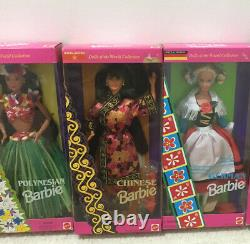 Lot of 12 Mattel Barbies Dolls of the World Special Edition NRFB