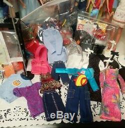 Lot of 12 Mattel Generation Girl Barbies & Friends Dolls, Clothes, Accessories