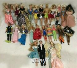 Lot of 25 Barbies Complete With Original Outfits Collector Vintage Angel Ken