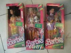 Lot of 3 Animal Lovin' Barbie Nikki (2) Barbie 1988