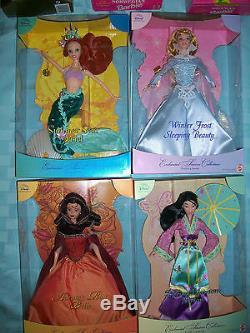 Lot of 3 Disney's Enchanted Seasons Dolls ARIEL Belle Sleeping Beauty