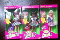 Lot of 3 Polly Pocket Stacie Janet Whitney Dolls Barbie HTF
