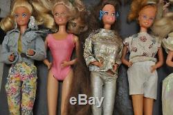 Lot of 30 Vintage Mattel Barbie & Ken Dolls 1966/1976/1980/1982/1988 60s 70s 80s