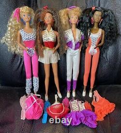 Lot of 4 1989 BARBIE & THE ALL STARS Dolls AA CHRISTIE, MIDGE, TERESA & BARBIE