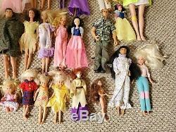 Lot of 58 Vintage Barbie DOLLS Bubbles Ken With Clothes