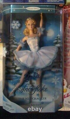 Lot of 6 Barbie Nutcracker Swan Lake SnowFlake Marizpan Peppermint -Plum
