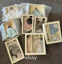 Lot of Silkstone BarbiesProvencale, Lisette, Maria Therese, Continental Set + more
