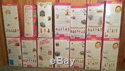 MATTEL Dolls Of The World Barbie Collection Lot of 14 Never Removed From Box