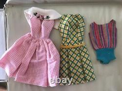 MINT LOT of Vintage 60's American Girl BARBIE withCase Clothing Accessories WOW