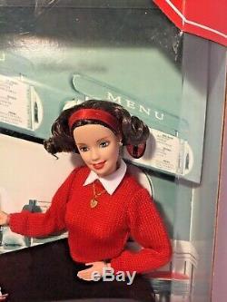 Mattel 1999 Barbie And Ken- Coca Cola Soda Fountain Lot- NRFB- HTF Soda Jerk Ken