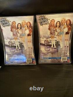 Mattel 2005 My Bling Bling My Scene Barbie and Chelsea Lot NIB