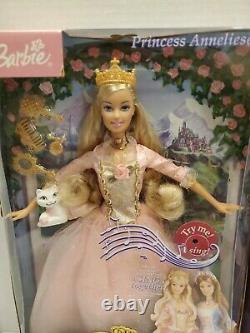 Mattel Barbie Doll The Princess & The Pauper, Anneliese & King Dominick lot of 2