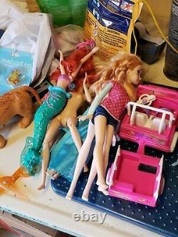 Mattel Disney BARBIE Dolls Clothes Accessories Furniture HUGE LOT