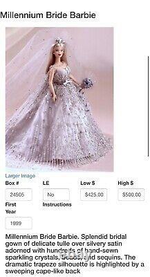 Millennium Bride Barbie NRFB Collectors Swarovski Crystals MINT WithCollectors Pi