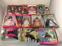 NEW VTG Lot 15 Barbie Dolls Holiday Pilgrim Birthday Olympic Spotlight RARE 90's