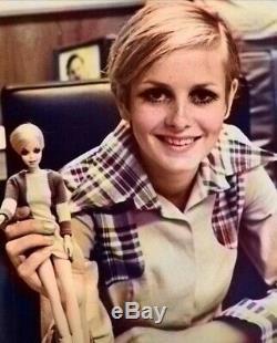 NRFB TWIGGY Barbie Francie Doll in Mint Box Vintage 1960's TNT MOD #1185