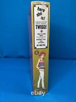 NRFB Vintage 1967 Twiggy Doll Francie Barbie Mod Friend MINT Factory Sealed