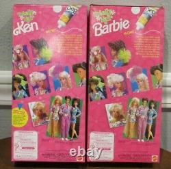 New 1991 Totally Hair Brunette Barbie & Ken Dolls Lot Of 2 Nrfb Sealed