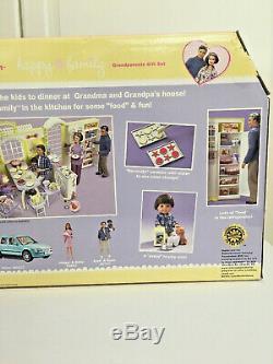 New Mattel 2003 Barbie Happy Family Grandma's Kitchen Grandparents Doll Playset
