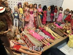 Nice Lot Of Vintage 31 Barbie + 2 Ken Dolls With Clothes 60s 90s + Others