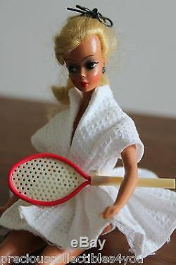 Nm Near Mint Original German Vintage Bild LILLI Hausser Barbie 7.5 Tennis
