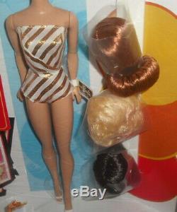 Nrfb 1963 My Favorite Barbie And Her Wig Wardrobe Doll Mattel Vintage Repro