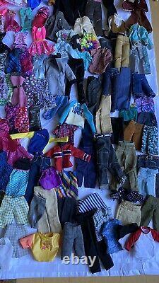 Pieces Ken Barbie Doll Clothes Dress Pants Huge Lot Around 600 Pieces Of Cloths