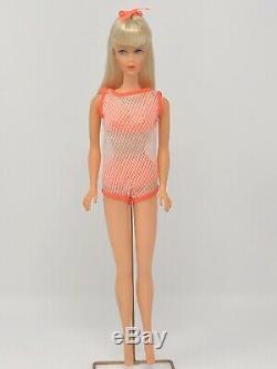 STUNNING Vintage Barbie TNT Platinum Blonde Hair Near Mint Swimsuit OSS