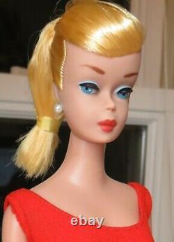 STUNNING Vintage Lemon Blonde Swirl Ponytail Barbie Doll NEAR MINT