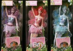 Sparkle Fairy Barbie! Fairytopia Pink Blue Lavender Lot B5736, B5735, B5734 NIB
