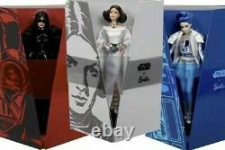 Star Wars Princess Leia Darth Vader R2D2 Barbie Set of 3 DOLL COLLECTIBLE FIGURE