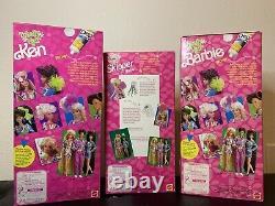 Totally Hair Barbie, Skipper And Ken LOT, Mattel, NIB